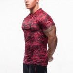 2016 New T-shirt men Tights Fitness Quick Dry Casual Stretch Top Tee Shirt Fitness Mma Plus Size Hot Sale