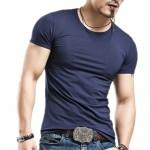 2016 New arrival summer Fashion Casual short-sleeved men t-shirt men brand plus size S-XXL,Cotton Men t-shirt High Quality GC299