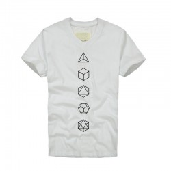 2016 New fashion brand clothing Cotton Math Geometry Print Short Sleeve Summer T Shirt Men v-neck T Shirt homme Size S-XXXL