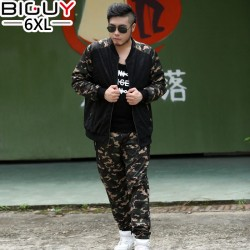 2016 Spring Autumn Camouflage Printed Oversized Mens sweat Suits Casual Plus Size Tracksuit Set Men 3XL 4XL 5XL 6XL 1005suit
