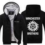 2016 TV series Supernatural Hoodies men Winter Winchester Bros Fashion Zipper Thicken Fleece Jacket