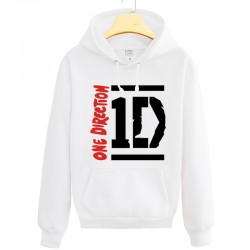2016 Winter new Hoodies Sweatshirts one-way band One Direction cotton sweatshirt 1D velvet hoodie