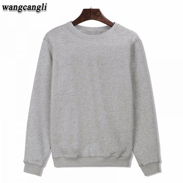 2016 fashion design Cotton Black/Gray Mens Long Sleeve Hoodies Mens Hip Hop Hoodies to Street Wear Style Sweatshirt Black