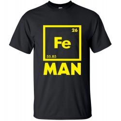 2016 funny FE MAN Iron Science Chemistry streetwear T-Shirt men t shirts tops tees top brand slim clothing pp crossfit
