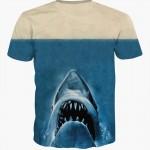2016 new 3d animal t shirt printed deadpool t-shirt with shark head blue animal t shirt unisex casual short sleeve top tees