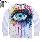 2016 new Fashion Men/Women's Big Eyes Printing Colorful Hoodie Fall Winter 3D Sweatshirts Clothes Harajuku 3D Sweatshirt men