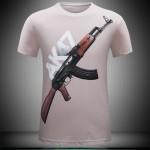 2016 summer Brand Casual Men's animal T-Shirt AK47/Pistol /bear / wolf 3D Printed T-Shirts Men Funny tee shirt Plus Size S-6XL