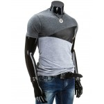 2016 this is me Summer Men T Shirt Casual Patchwork leather Cotton Tee Shirt Men Short Sleeve Slim Fit T-Shirt Men O-Neck Tees