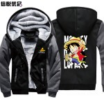 2016 winter Hoodies thick long-sleeved hooded coat One Piece Tide brand Anime boys and girls students