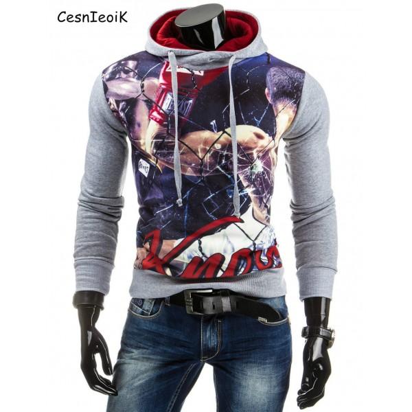 2017 Autumn  Men Hoodies Jacket Brand Clothing Fashion Hoodies Man Casual Slim Hoody Sweatshirt 3D Print