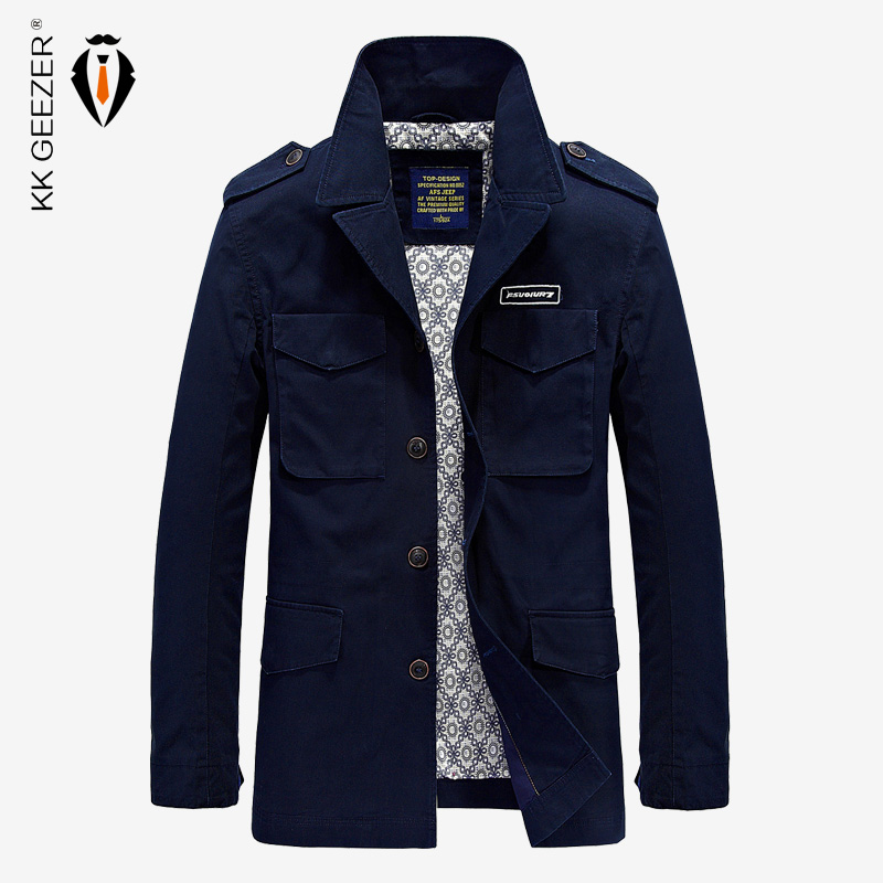 2017 Autumn And Spring Jacket Men Fashion Casual Cotton Clothing High Quality Office Coats Male Brand