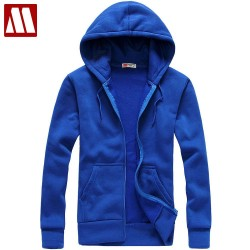 2017 Autumn and winter lovers casual with a hood sweatshirt blue lovers hoodies 5 color 5 size cardigan fleeces coat S-XXL