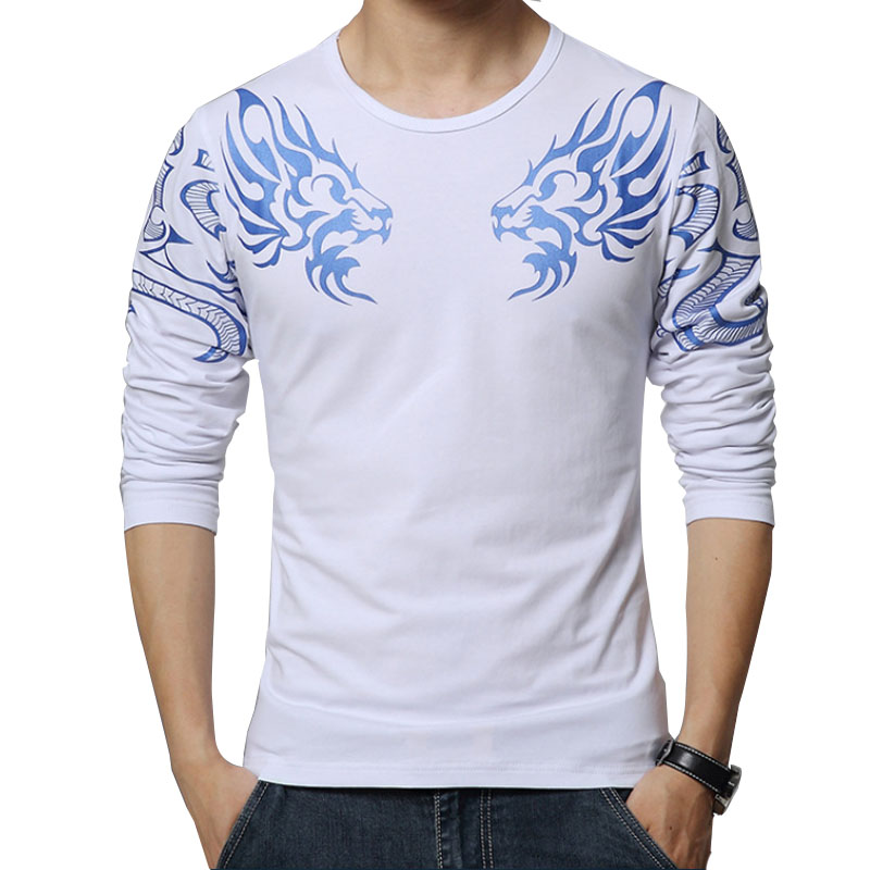 2017 autumn new high end men 39 s brand t shirt fashion slim for High end men s shirts