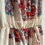 2017 Beach Dress Summer Short Sleeve Off The Shoulder Sexy Dress Vintage Floral Print Bohemia Dress Women Loose Women's Dresses