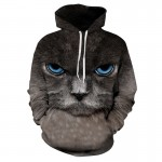 2017 Cool hoodies men cool sweatshirt men novelty 3D print cat animal fashion brand plus size 3XL unisex harajuku pullovers
