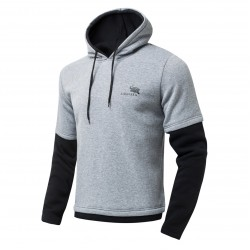 2017 Fashion Autumn Hoodies Men Outside Splicing Tracksuit Male Cotton Fake Two Hoodie Full Sleeve Hip Hop Hoodies