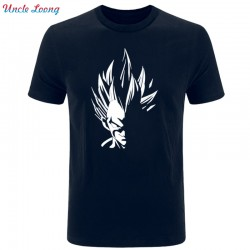 2017 Fashion Mens Prince Vegeta Print T-shirts Short Sleeve T shirt Cotton  T shirts Man Clothing Size XS-XXL