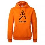 2017 Fashion Star Trek Print Thick Sweatshirt For Men 550GM2 Candy Color Cartoon movie Print Fleece Hoodies Mens Pullover