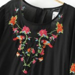 2017 Fashion Women Flower Embroidery Lantern Sleeve Mini Dresses Two piece suit Casual Lace stitching Dress Womens Clothing D816