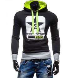 2017 Hoodies Men Sudaderas Hombre Hip Hop Mens Brand Digital Printing Pentagram Hoodie Sweatshirt   Suit Slim Fit Men Hoody