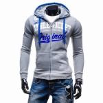 2017 Hoodies Men Sudaderas Hombre Hip Hop Mens Brand Letter Hooded Zipper Hoodie Sweatshirt   Suit Slim Fit Men Hoody XXL