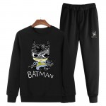 2017 Large Size 4XL Jogger Print Men Sweatshirts Suits Hombre Hot Sell Spring O-Neck Loose Tracksuit Clothing +Jogger Pants