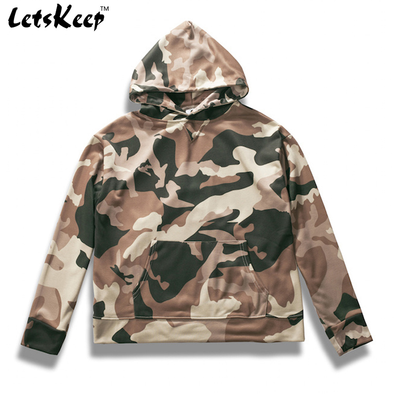 2017 LetsKeep oversized Camouflage hoodies men pullover