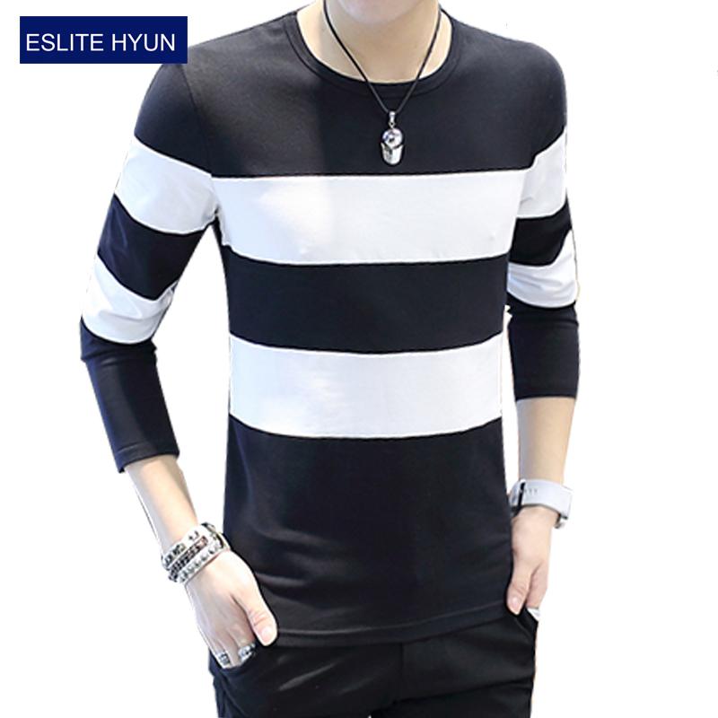 2017 New Fashion Brand Casual Fitness Tshirt Striped