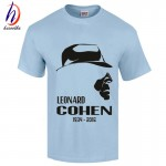 2017 New Arrival Leonard Cohen Cotton Print T shirt Men and Women Ten New Songs Leonard Cohen T-shirt GT282