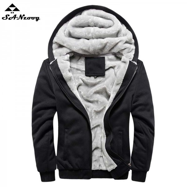2017 New Autumn Winter Warm Thick Solid Hoodies Mens Sweatshirt Casual Brand Tracksuit Sweatshirts Men Designer Plus Size 5XL