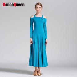 2017 New Ballroom Dance Dress For Women Strapless Long Sleeve Jazz/Waltz/Tango-Dancing Standard Ballroom Dance Dresses For Sale