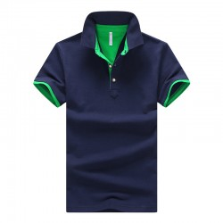 2017 New Brands Mens Printed POLO Shirts Brands 95% Cotton Short Sleeve Camisas Polo Stand Collar Male Polo Shirt M-3XL,EDA324