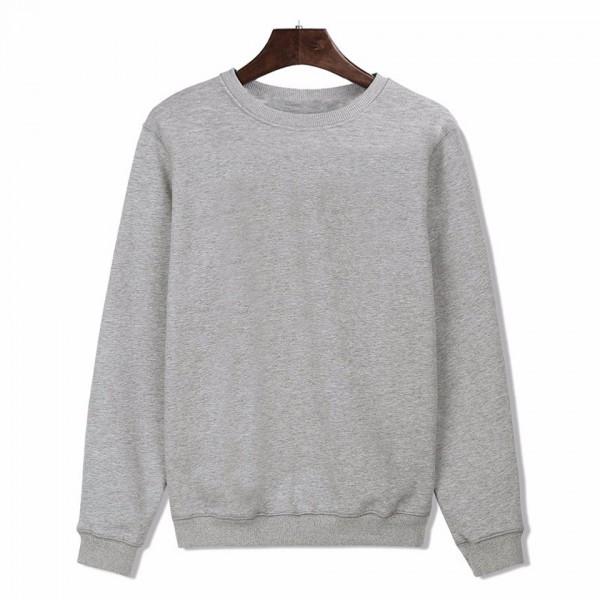 2017 New Fashion Design solid Hoodies Men Hip Hop Cotton Black/Gray Long Sleeve Men Hoodies in Street Wear Style Harajuku 4XL