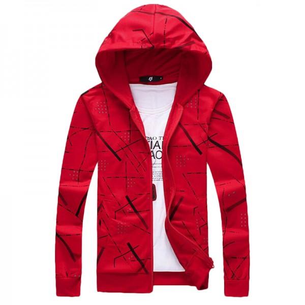 2017 New Fashion Spring & Autumn Hoodies Men Sweatshirts Single Zipper Jacket Tracksuit Casual Hoodies Sweatshirts Plus Size 5XL