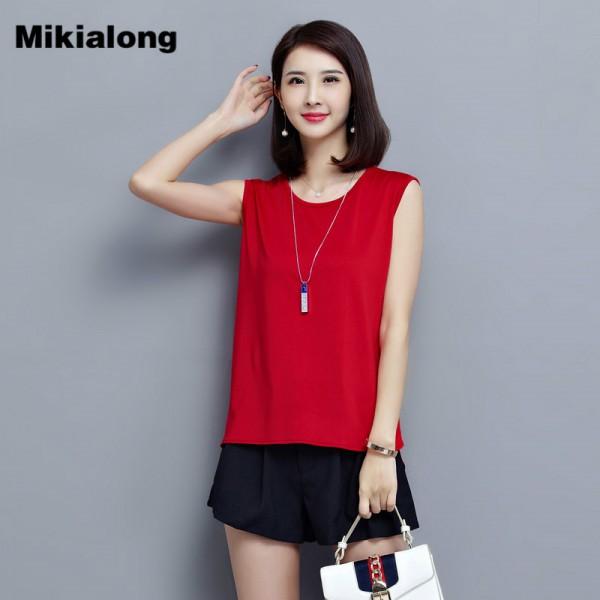 2017 New Korean Ladies Vest Cotton Black Red Loose Sleeveless Tshirt Women Fashion Plus Size Tops Camiseta Mujer M-5XL