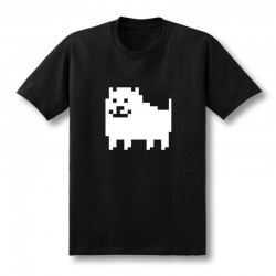 2017 New Men Fashion Game T Shirts Undertale Annoying Dog Printed Combed Anime Cotton Casual Tees Customized Plus Size XS-XXL