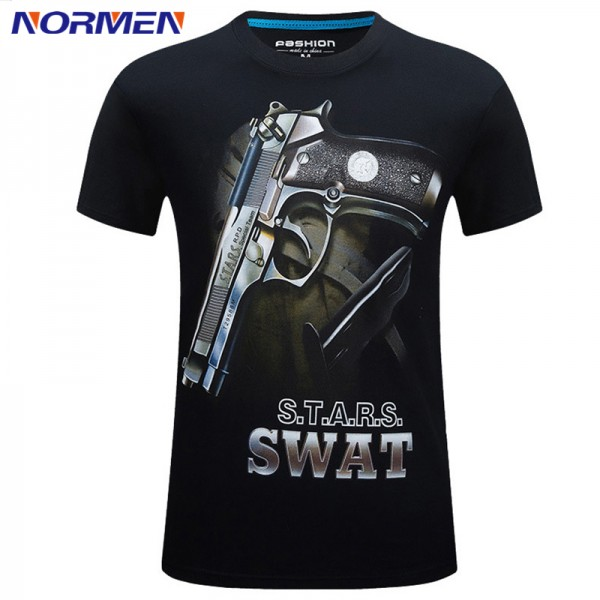 2017 New Models 3D Cotton Short-sleeve Fashion T-shirt Men's Print O-Neck Stereoscopic T-shirt S-6XL For Men