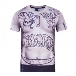 2017 New Suicide Squad Men's Slim Fit T-Shirt Harley Quinn Joker Deadshot T shirt Tattoo Printing Short Sleeves Camisetas Homme
