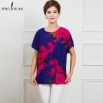 2017 New Summer Plus Size Women T Shirt Roupas Femininas Blusas Tops Women Short Sleeve Bats Tees Women Clothing  Print T-Shirt