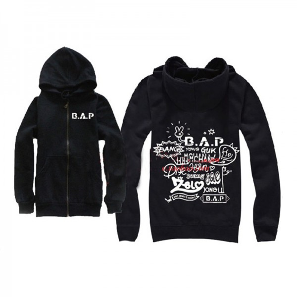 2017 New arrival B . best a.p . for absolut e . perfect fan meeting hoodie BAP sweatshirt  for men and women