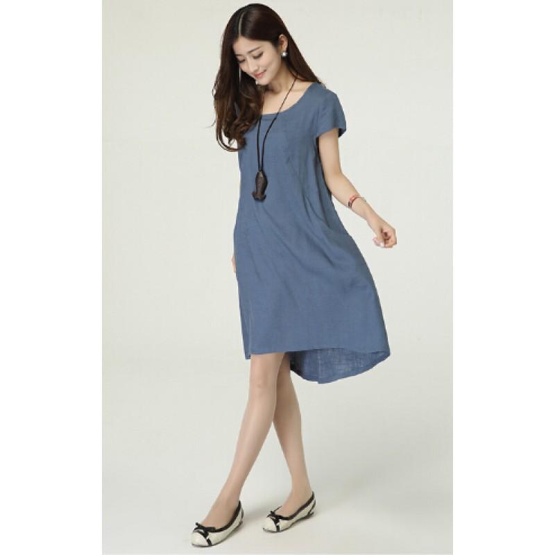 2017 New summer dress loose plus size Vintage Style Cotton Linen ...