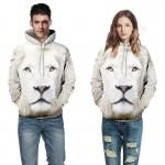 2017 Novelty couples hoodies 3D print Lion sweatshirt casual pullover animal hoodie men women sweatshirts pullovers