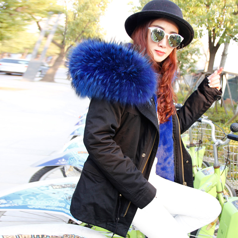 238100f7542a1 2017 Parkas For Women Winter Army Green Wadded Coat Large natural real fur  Collar Thick Jacket Outerwear Female Snow Wear Brand