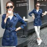 2017 Spring Jacket Coat Women's Clothing Basic Jackets Blue Jean Bomber Jacket Double Breasted Denim Jackets And Coats Female