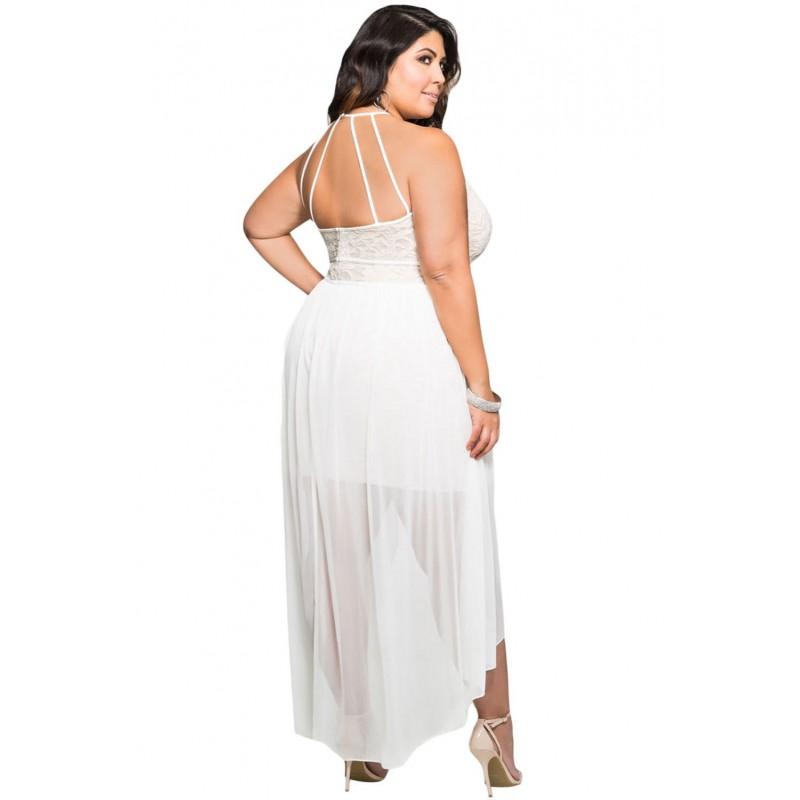 2017 Stylish Lace Special Occasion Plus Size Dress Big Size Xxxl