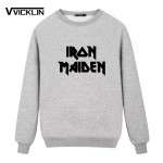 2017 Summer Clothing Printed Iron Maiden Punk Rock Band Hip Hop Skateboard Short Sleeved  Fleece Hoodies Sweatshirt Men Brand