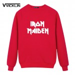 2017 Summer Clothing Printed Iron Maiden Punk Rock Band Hip Hop Skateboard Short Sleeved  Fleece Hoodies Sweatshirt Men Brand