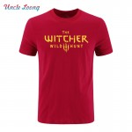 2017 The Witcher 3 T Shirt Summer Style Men Cotton Fashion T-Shirt Wild Hunt Men Clothing Tops O-Neck Short Sleeve Tee