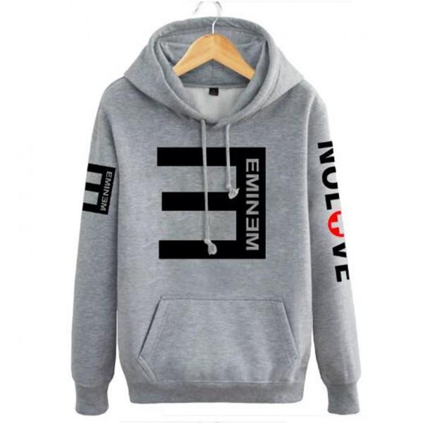 2017 autumn winter men hipster Eminem Hoodies Reverse E Hip-hop fleece hooded male hip-hop funny sweatshirt brand tracksuits mma