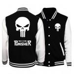 2017 funny skull print streetwear hip-hop hoodies The Punisher fashion button baseball jackets men women unisex brand tracksuits
